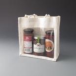 White square jute bag