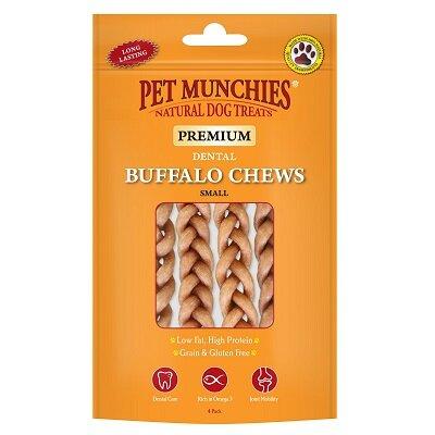 Pet Munchies Buffalo Dental Chews Small 8 x (4 Pack) 55g
