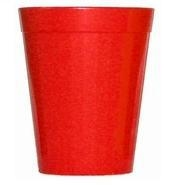 Beaker Fluted Polycarbonate Red 15cl 5oz