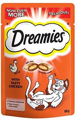 Dreamies Chicken Cat Treats 8 x 60g