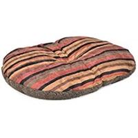 Ancol Rich Stripe & Fur Oval Cushion 100cm x 70cm x 1