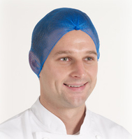 Balled Blue Fine Mesh Hairnet, 100/Pack