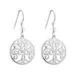 sterling silver tree of life earrings s33683 from Solvar