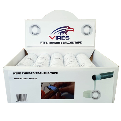 Vires PTFE Tape 12mm x 12M Display 100pce