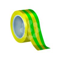 19mm X 20 Mtr PVC Tape Green / Yellow