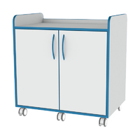 Sealwise Anti-Microbial Mobile lockable 900mm Enclosed Trolley