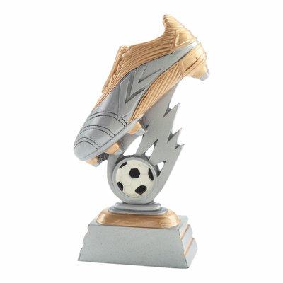 18cm Soccer Boot & Ball (Silver & Gold)