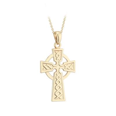 14k gold celtic cross pendant medium s4936 from Solvar