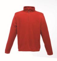 Regatta TRF549 Micro Zip Neck Fleece Red