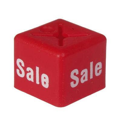 SHOPWORX CUBEX 'Sale' Size cubes - Red (Pack 50)