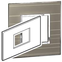 Arteor (British Standard) Plate 3 Module 2 Gang Square  Formal | LV0501.0190