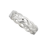 sterling silver celtic knot band ring s2994 from Solvar