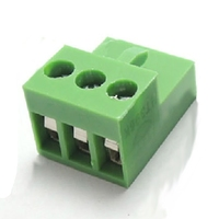 TERMINAL BLOCK CONNECTOR 3 PINS SCREW GREEN PLUGGABLE TYPE
