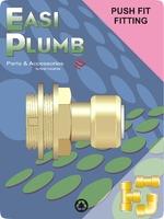 """Easi Plumb 3/4"""" Plastic Pushfit Tank Connector"""