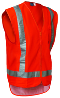Hi Vis Day/Night Polyester Zip Safety Vest