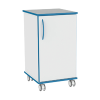 Sealwise Anti-Microbial Mobile lockable single 450mm cupboard
