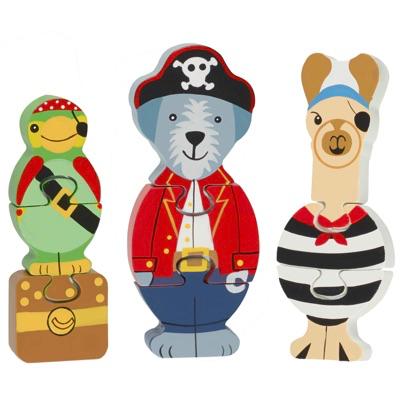 pirate animal jigsaw puzzle set