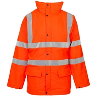 Supertouch Storm-Flex PU Parka, Orange Lined