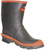 Skellerup Redband Mid Calf Height Rubber Gumboot Black/Red