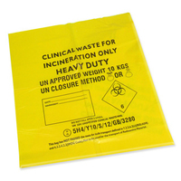 YELLOW CLINICAL WASTE BAGS (28CM x 48CM)
