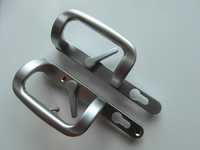 PATIO HANDLE LOCKING SATIN SILVER