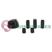 Universal Black Cooker / Oven Control Knob With Five Adapters