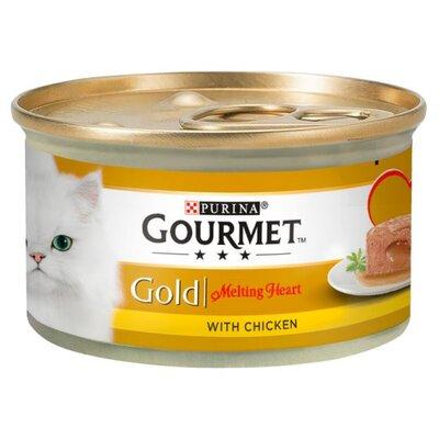 Gourmet Gold Cat Can Melting Heart Chicken 85g x 12