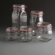 Glass Clip Top Kilner/Storage Jars