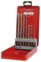Ruko SDS-Plus Hammer Drill Set 7Pce (5, 6, 8 x 110mm & 6, 8, 10, 12 x 160mm)