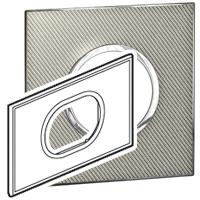 Arteor (British Standard) Plate 3 Module 2 Gang Round Woven Metal | LV0501.2731