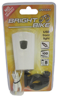 Rechargeable USB Front Bike Light - 62486
