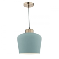 Sullivan 1 Light Pendant, Blue Grey/Copper | LV1802.0098