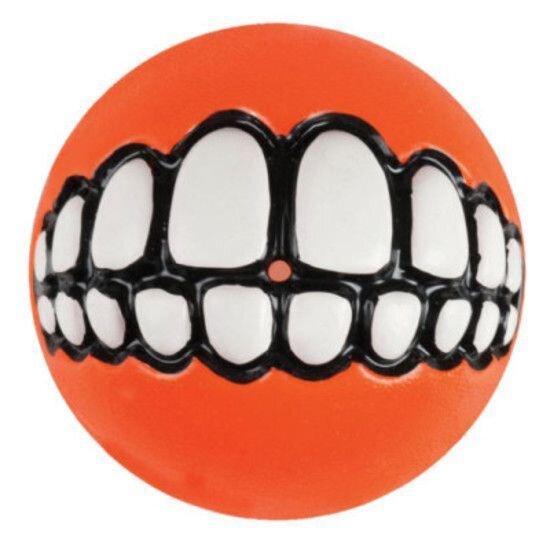 "Rogz Grinz Large Ball Orange 3"" x 1"