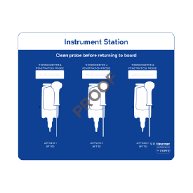 Instrument station for 3x instruments