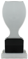 23cm Clear/BK Crystal  Award (Satin Box)