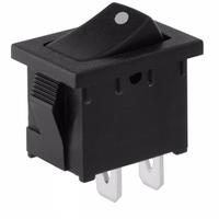 Switch | Rocker Switch Sub Mini 2 Pins On-Off 3A Black Cap