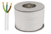 Cable (Meters) 3 Core * 0.755Sq Circular Whit