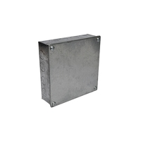 6 x 6 x 2 Galvanised Knockout Adaptable Box