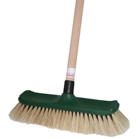 Horse Hair House Broom with Wooden Handle