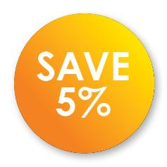 5% off Starters till end of April