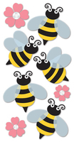 Bees Large Essential Craft Sticker. (Priced in singles, order in multiples of 6)