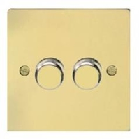 Flat Plate PL BR DIMMER  2Gang 2way| LV0701.0140