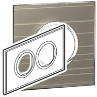 Arteor (British Standard) Plate 2x2 Module 2 Gang Round Formal | LV0501.0196