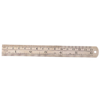 GROZ 6'' 150mm S/S RULE (COMB)