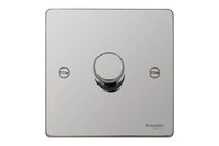 Schneider Ultimate Low Profile 1Gang Dimmer Polished Chrome | LV0701.0062