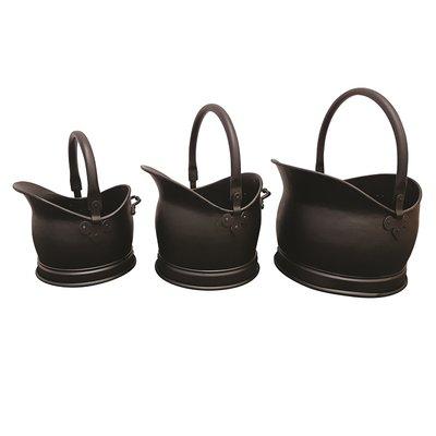 Leecroft Cromwell Bucket Black Set of 3