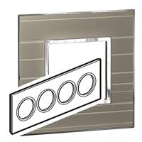 Arteor (British Standard) Plate 8 Module Round Formal | LV0501.0351