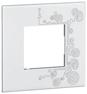 Arteor (British Standard) Plate 2 Module 1 Gang Square Tattoo | LV0501.0146