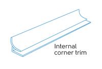 3.05m - 1 PART INTERNAL CORNER WHITE