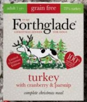Forthglade Complete Grain-Free Adult Trays - Christmas Turkey, Cranberry & Parsnip 395g x 7